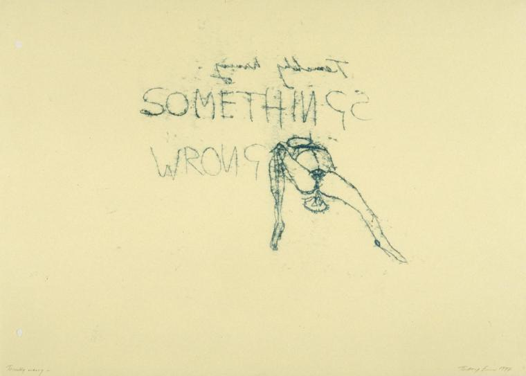 Terribly Wrong 1997 by Tracey Emin born 1963